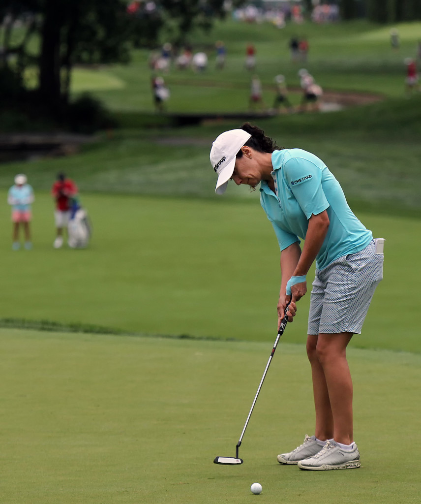 Mo Martin, putts on the 4th hole, during first day action of the 70th US Women's Open at Lancaster Country Club Thursday July 9, 2015. (Photo/Chris Knight)
