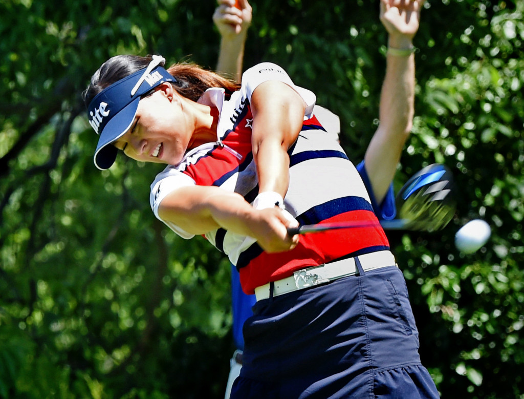 In Gee Chun tees off from hole #2 at Lancaster Country Club in Round 3 of the 2013 U.S. Women's Open Saturday. (Photo/Blaine Shahan)