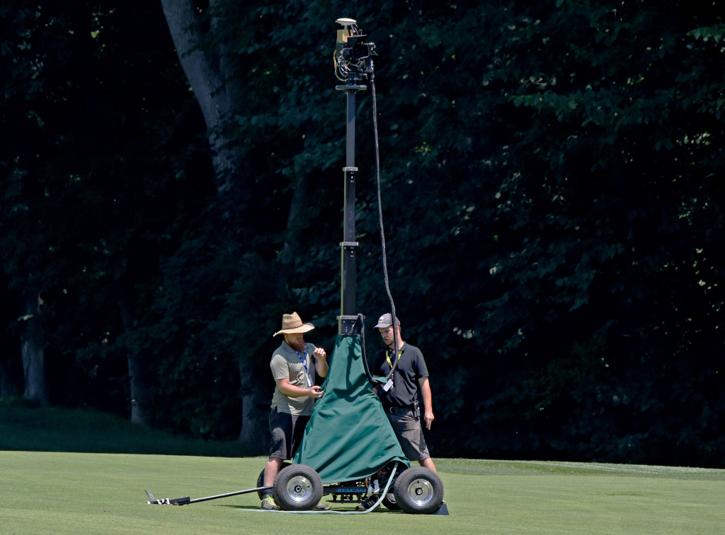 Fox Sports was using a telescopping camera on the #2 fairway at Lancaster Country Club in Round 3 of the 2013 U.S. Women's Open Saturday. (Photo/Blaine Shahan)